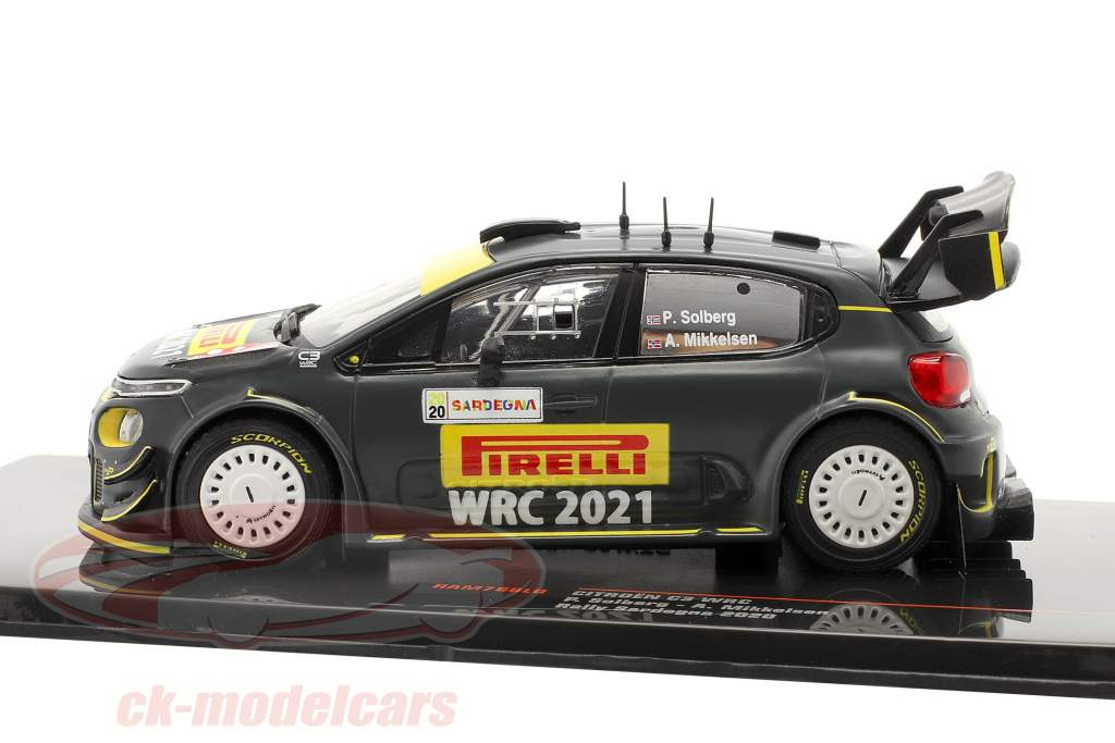 Citroen C3 WRC Veicolo avanzato Rallye Sardegna 2020 Solberg, Mikkelsen 1:43 Ixo