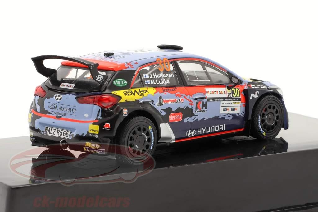 Hyundai i20 R5 #30 Rallye Sardinia 2020 Huttunen, Lukka 1:43 Ixo