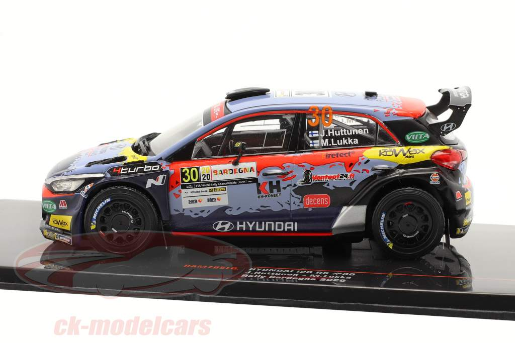 Hyundai i20 R5 #30 Rallye Сардиния 2020 Huttunen, Lukka 1:43 Ixo