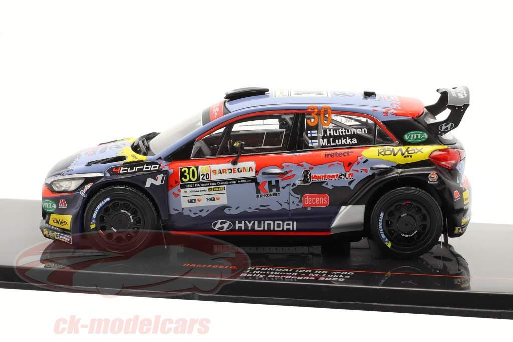 Hyundai i20 R5 #30 Rallye Sardinië 2020 Huttunen, Lukka 1:43 Ixo