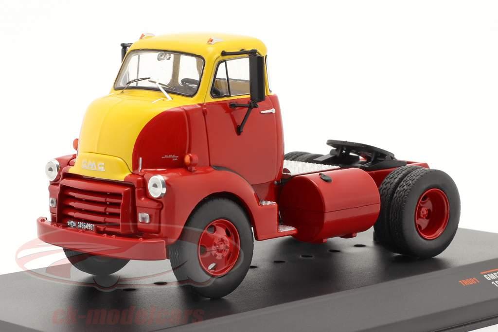GMC 950 COE Caminhão Ano de construção 1954 vermelho / amarelo 1:43 Ixo