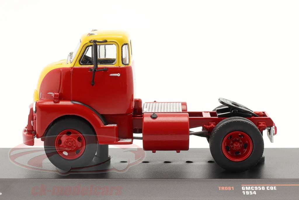 GMC 950 COE Lastbil Byggeår 1954 rød / gul 1:43 Ixo