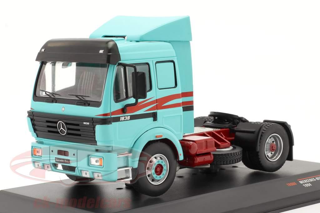Mercedes-Benz 1838 LS Lastbil Byggeår 1994 turkis 1:43 Ixo
