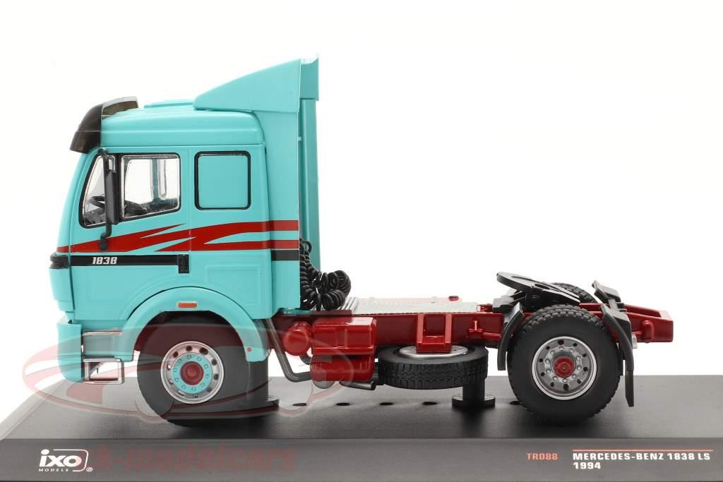 Mercedes-Benz 1838 LS Camion Année de construction 1994 turquoise 1:43 Ixo