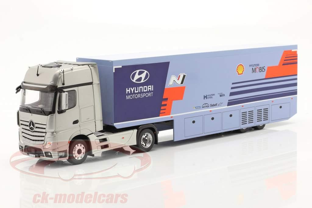 Mercedes-Benz Actros MP4 2019 WRC Rallye Transport Hyundai Motorsport 1:43 Ixo