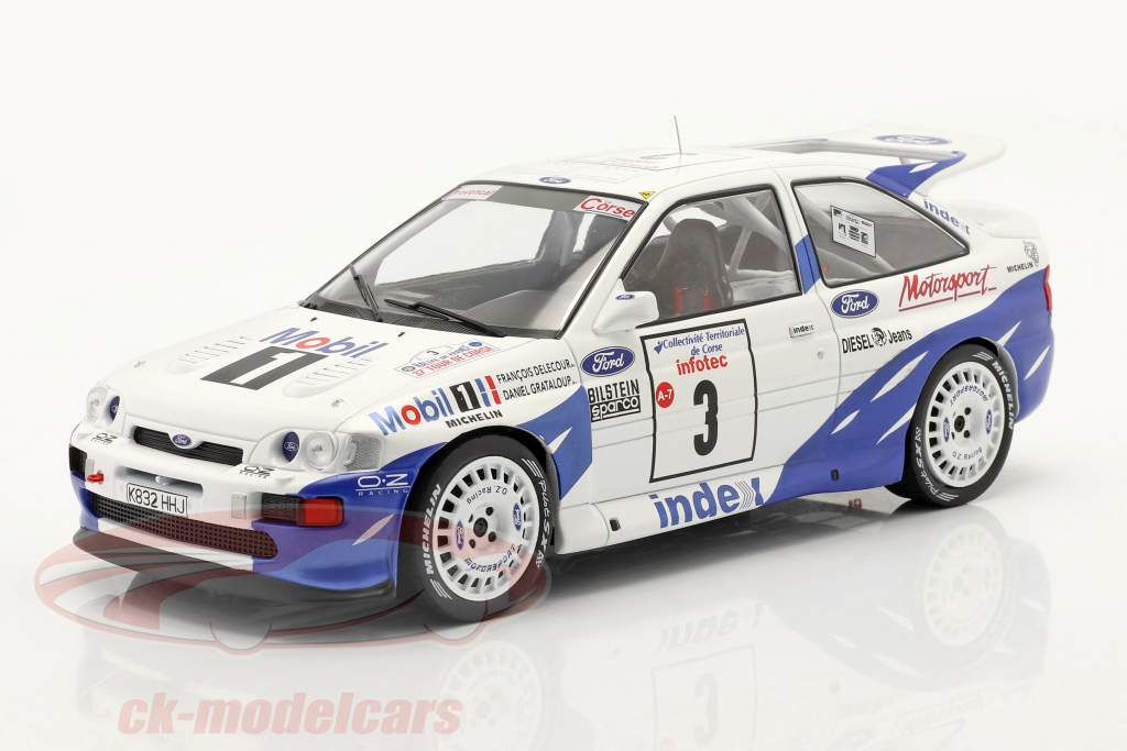 Ford Escort RS Cosworth #3 ganador Rallye Tour de Corse 1993 Delecour, Grataloup 1:18 Ixo