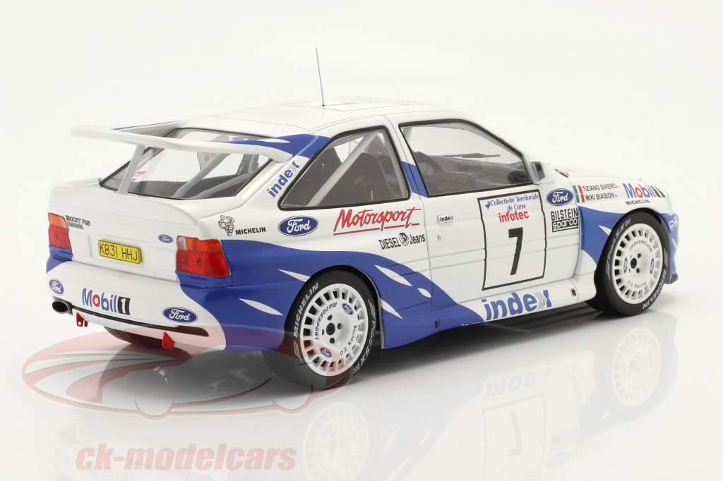 Ford Escort RS Cosworth #7 7° Rallye Tour de Corse 1993 Biasion, Siviero 1:18 Ixo