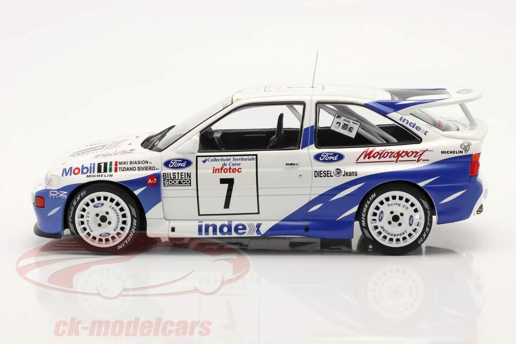 Ford Escort RS Cosworth #7 Séptimo Rallye Tour de Corse 1993 Biasion, Siviero 1:18 Ixo