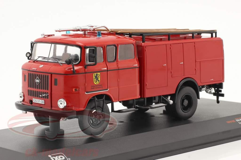 IFA W50 Brandweer Sonnenberg rood 1:43 Ixo