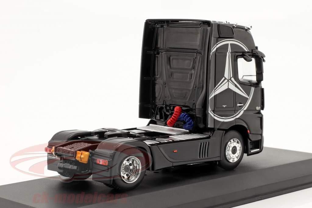 Mercedes-Benz Actros MP4 Lastbil Byggeår 2012 sort 1:43 Ixo