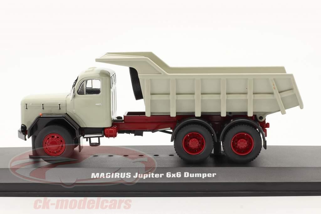 Magirus Jupiter 6x6 Caminhão basculante cinza 1:43 Ixo
