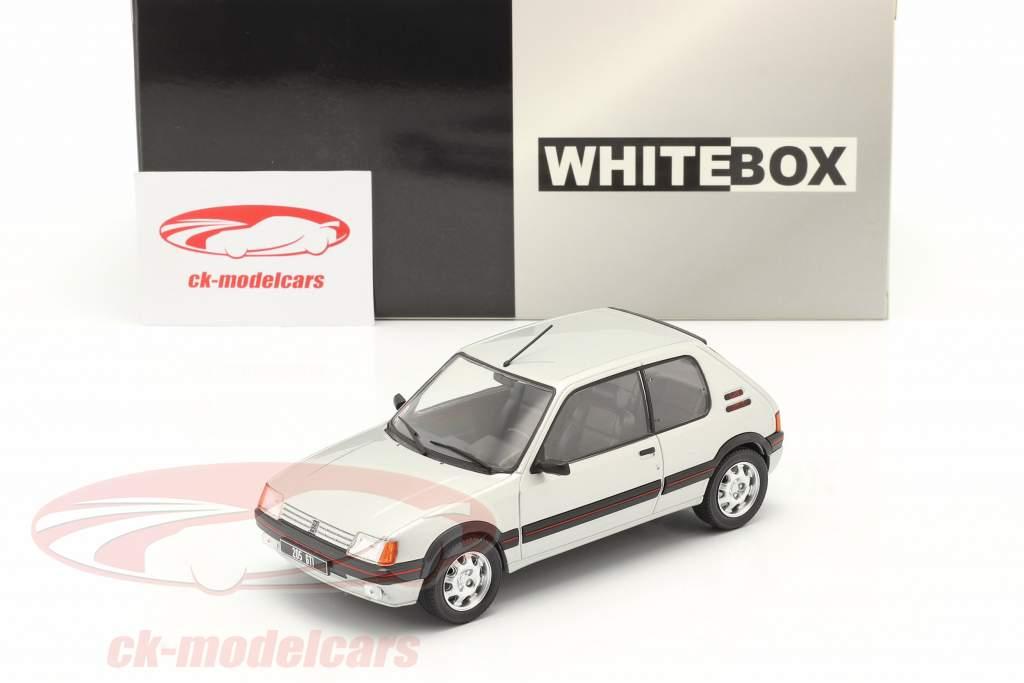 Peugeot 205 1.9 GTI Année de construction 1988 argent 1:24 WhiteBox