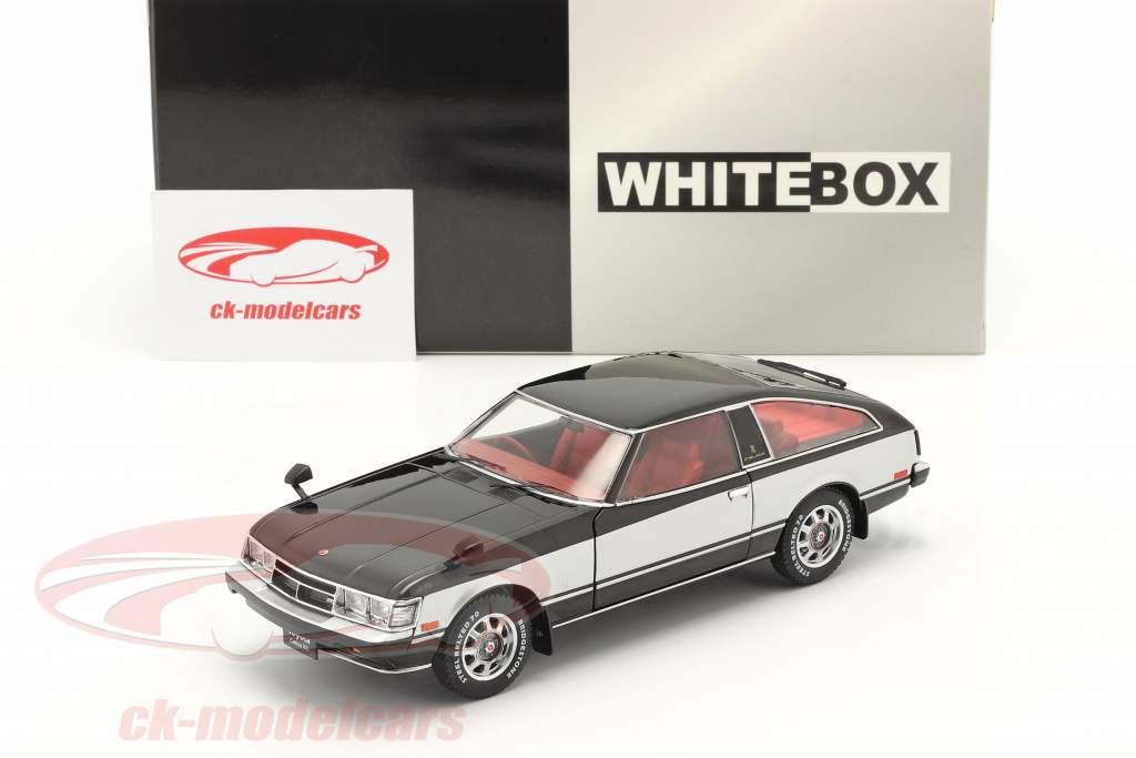 Toyota Celica XX RHD bouwjaar 1978 zwart / zilver 1:24 WhiteBox