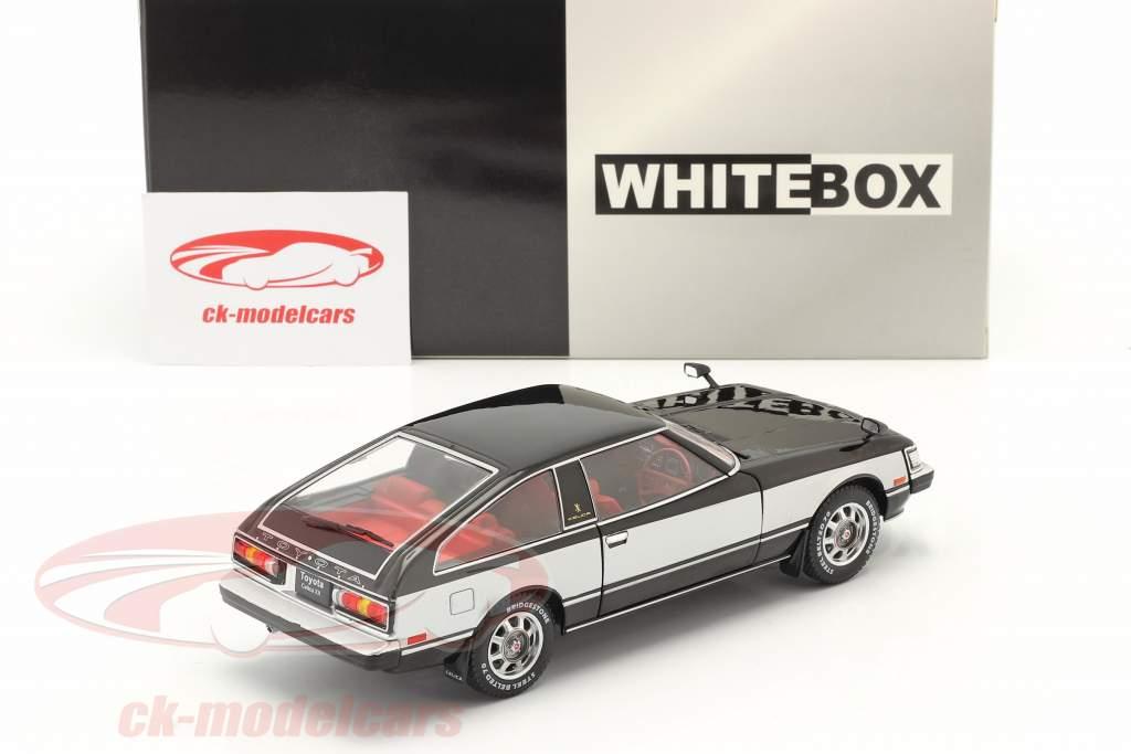 Toyota Celica XX RHD Baujahr 1978 schwarz / silber 1:24 WhiteBox