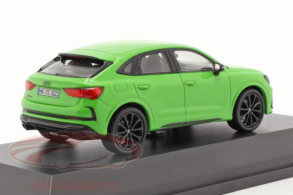 Audi RS Q3 Sportback (F3) Año de construcción 2019 verde kyalami 1:43 Minichamps
