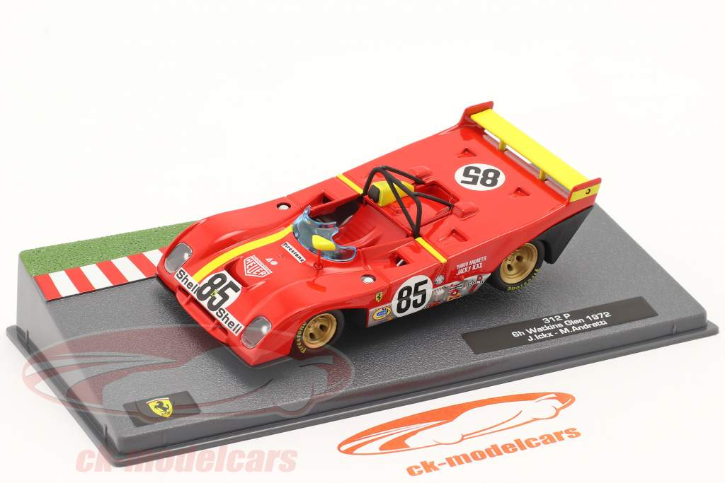 Ferrari 312 PB #85 Gagnant 6h Watkins Glen 1972 Andretti, Ickx 1:43 Altaya