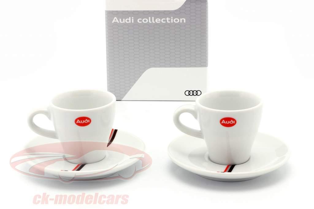 Espresso tazze Heritage (impostato di 2) Audi quattro S1 #1 vincitore Pikes Peak 1987