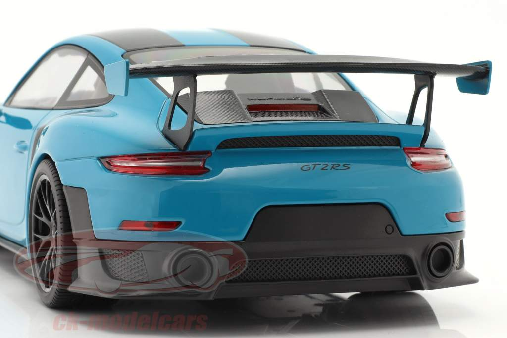 Porsche 911 (991 II) GT2 RS Weissach Package 2018 miami 青 / 黒 リム 1:18 Minichamps