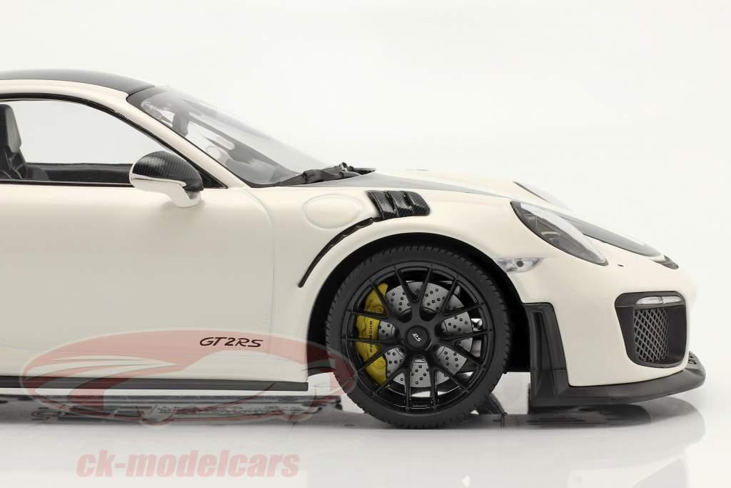 Porsche 911 (991 II) GT2 RS Weissach Package 2018 weiß / schwarze Felgen 1:18 Minichamps