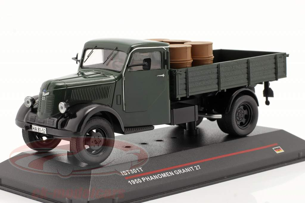 Phänomen Granit 27 with load Year 1950 dark green 1:43 Ixo