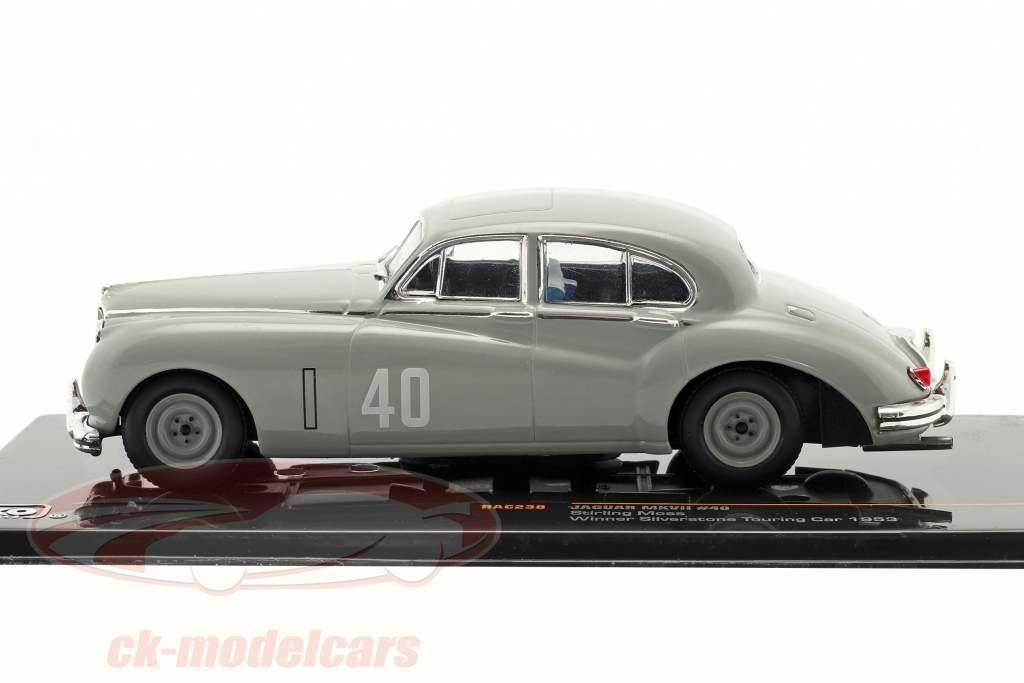 Stirling Moss Jaguar MKVII #40 Vincitore Silverstone Touring Car 1953 1:43 Ixo