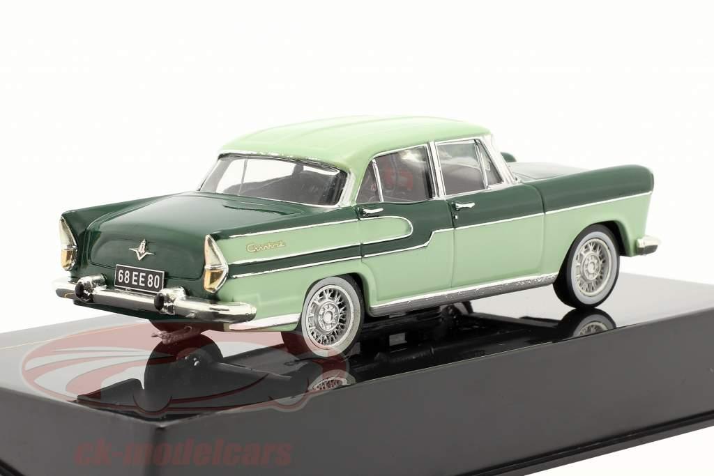 Simca Chambord år 1958 mørkegrøn / lime 1:43 Ixo