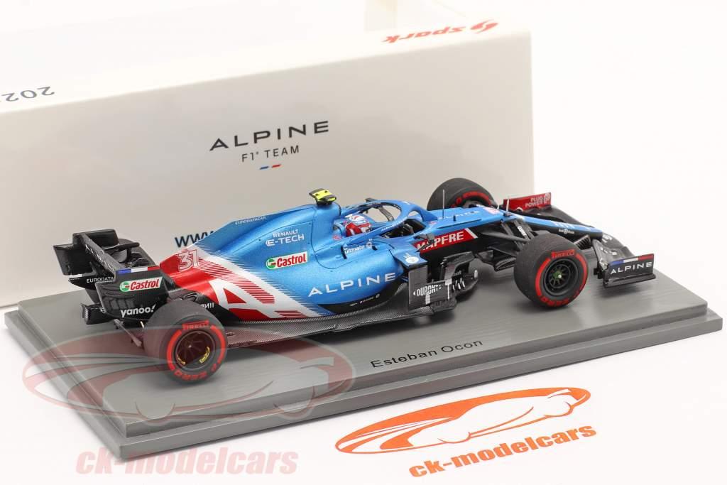 Esteban Ocon Alpine A521 #31 Bahrein GP formula 1 2021 1:43 Spark