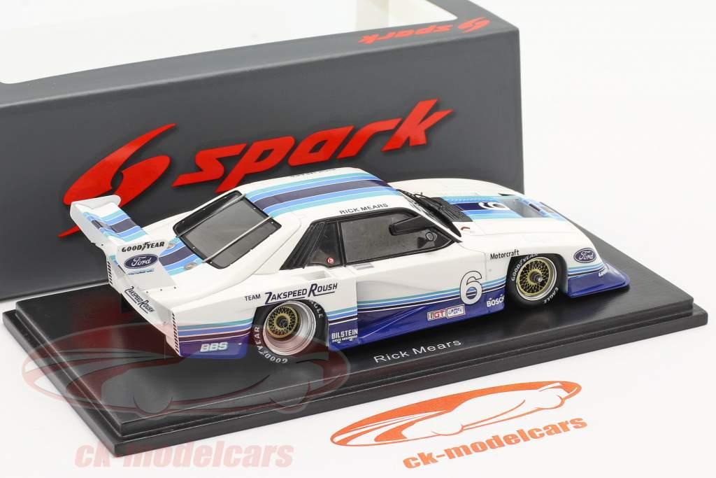 Ford Mustang Turbo #6 100 Meilen Sears Point IMSA GTO 1982 R. Mears 1:43 Spark