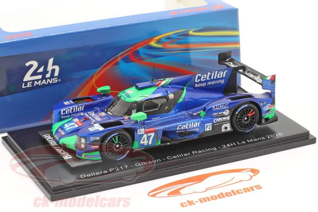 Dallara P217 #47 24h LeMans 2020 Belicchi, Lacorte, Sernagiotto 1:43 Spark
