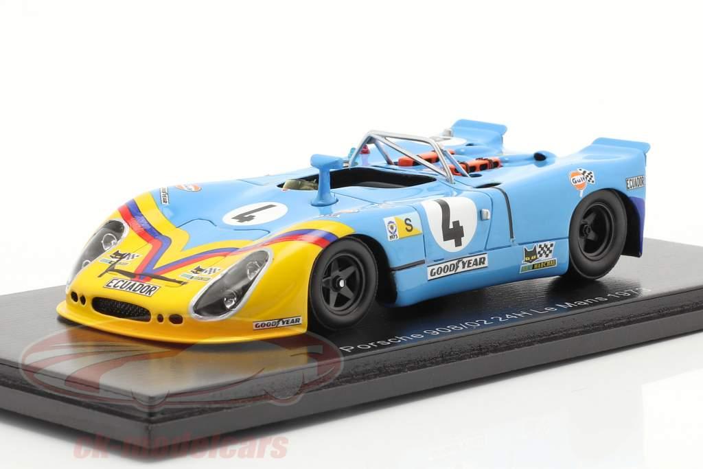 Porsche 908/02 #4 Séptimo 24h LeMans 1973 Ortega, Merello 1:43 Spark