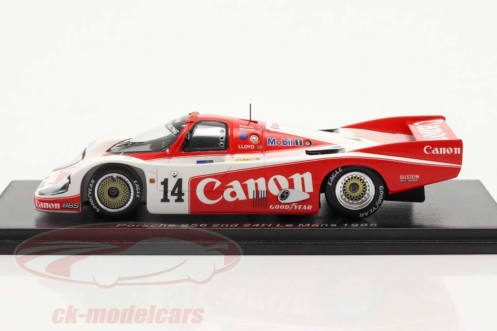 Porsche 956 #14 2do 24h LeMans 1985 Palmer, Weaver, Lloyd 1:43 Chispa - chispear