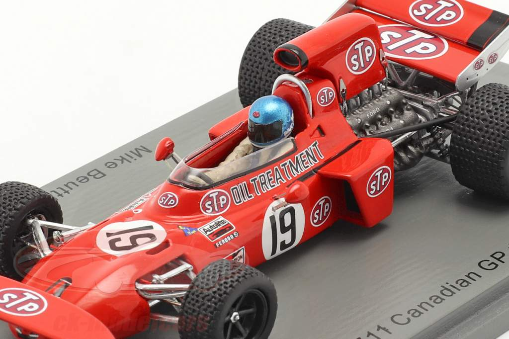 Mike Beuttler March 711 #19 canadiense GP fórmula 1 1971 1:43 Spark