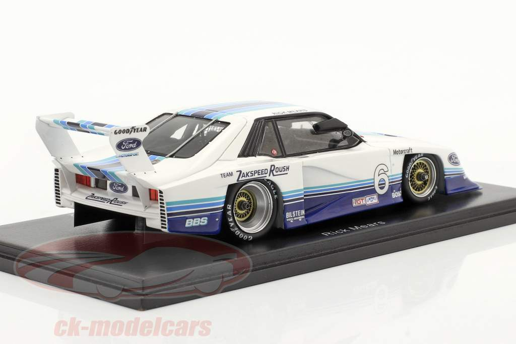 Ford Mustang Turbo #6 100 miglia Sears Point IMSA GTO 1982 R. Mears 1:43 Spark