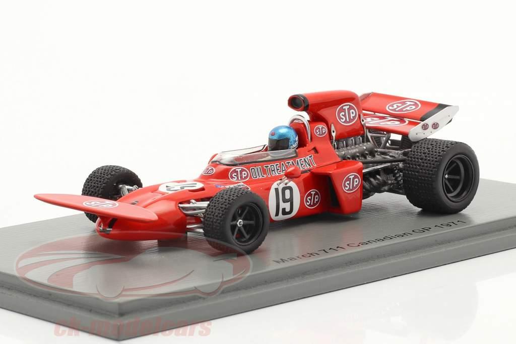 Mike Beuttler March 711 #19 canadense GP Fórmula 1 1971 1:43 Spark