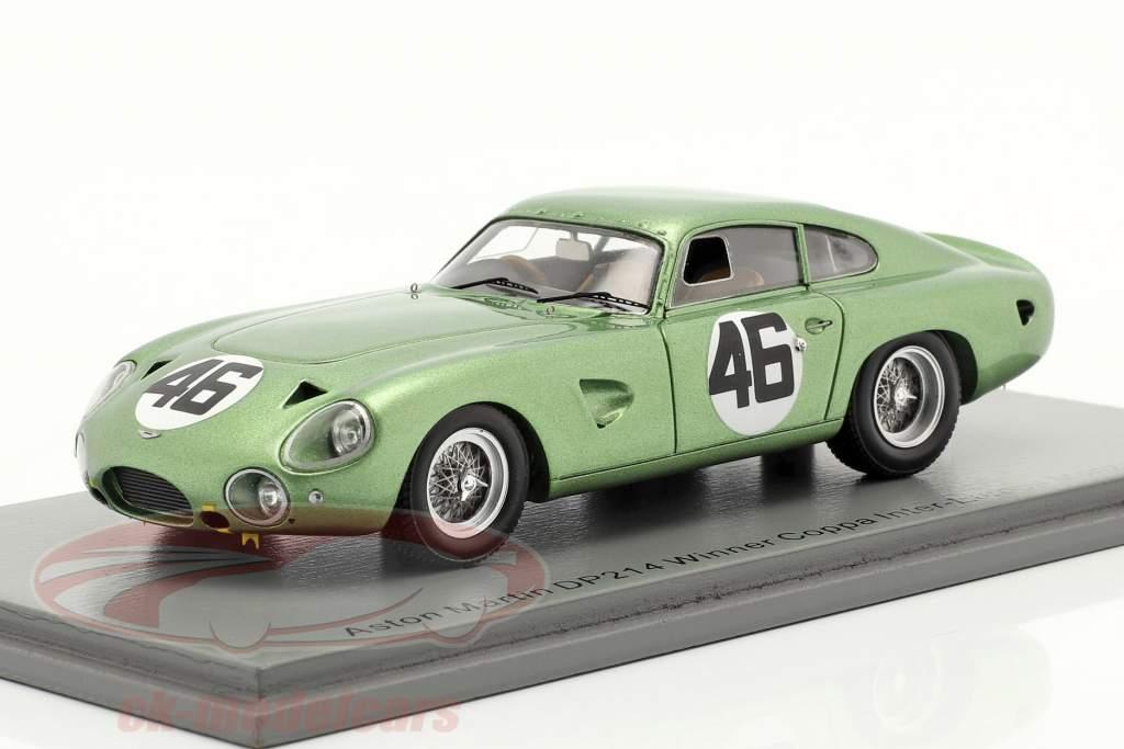 Aston Martin DP214 #46 gagnant Coppa Inter-Europa Monza 1963 Salvadori 1:43 Spark