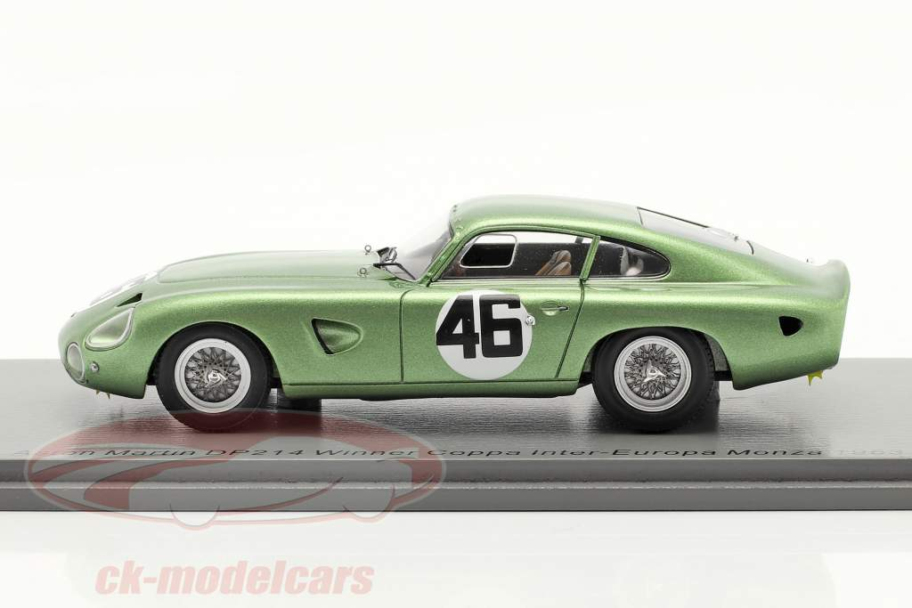 Aston Martin DP214 #46 ganador Coppa Inter-Europa Monza 1963 Salvadori 1:43 Spark