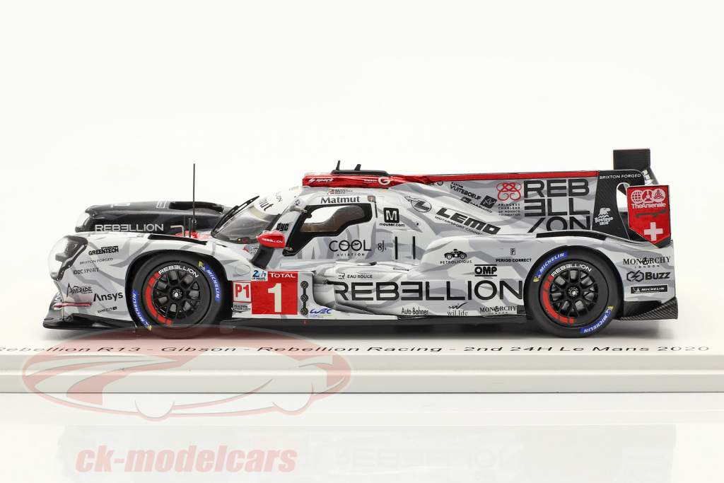 Rebellion R13 #1 2. plads 24h LeMans 2020 Menezes, Nato, Senna 1:43 Spark