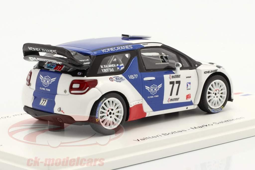 Citroen DS3 WRC #77 vincitore RallyCircuit Cote d'Azur 2019 Bottas, Rautiainen 1:43 Spark