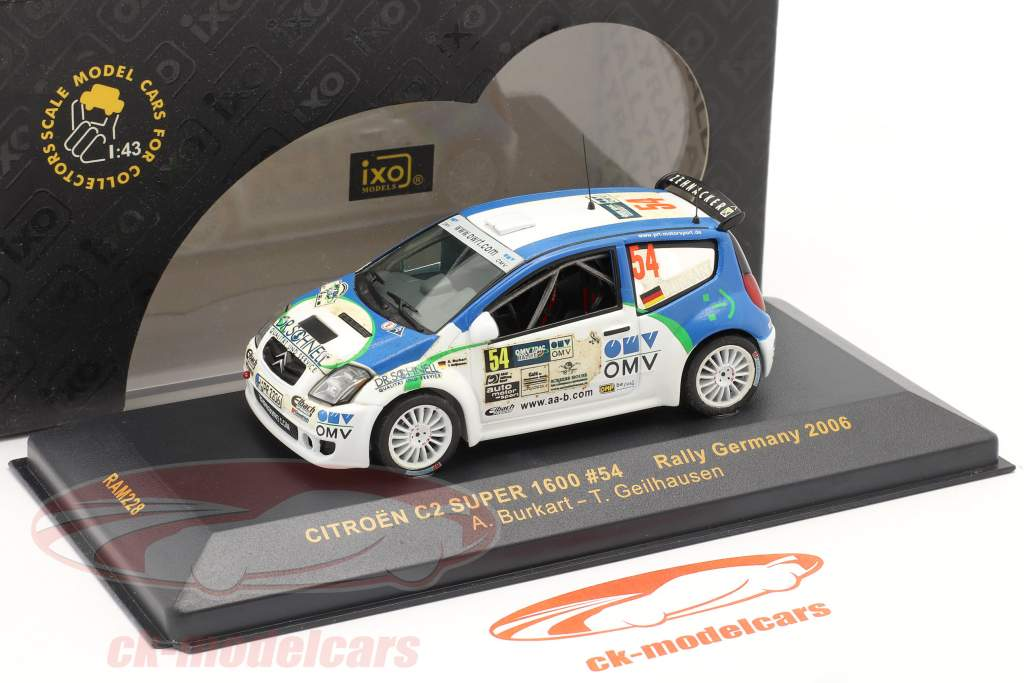 Citroen C2 Super 1600 Rally da Alemanha 2006 #54 1:43 Ixo