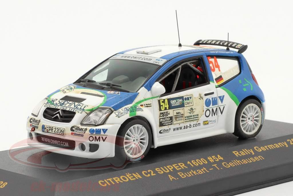 Citroen C2 Super 1600 Rally Tyskland 2006 #54 1:43 Ixo