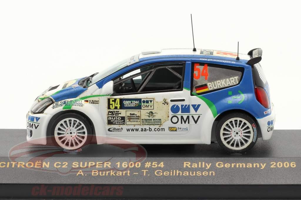 Citroen C2 Super 1600 Rally de Alemania 2006 #54 1:43 Ixo