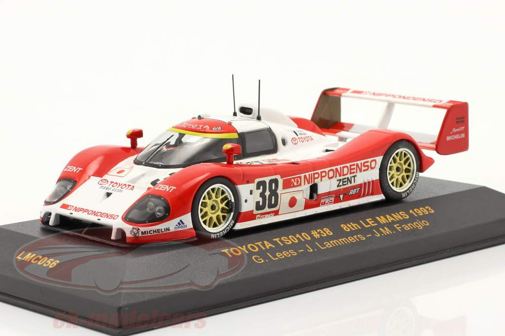 Toyota TS010 #38 8. plads placere 24h LeMans 1993 Lees, Lammers, Fangio 1:43 Ixo