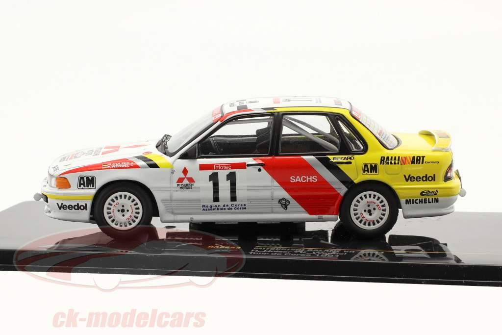 Mitsubishi Galantemente VR-4 #11 Excursão de Corse 1991 Holzer / Espiral 1:43 Ixo