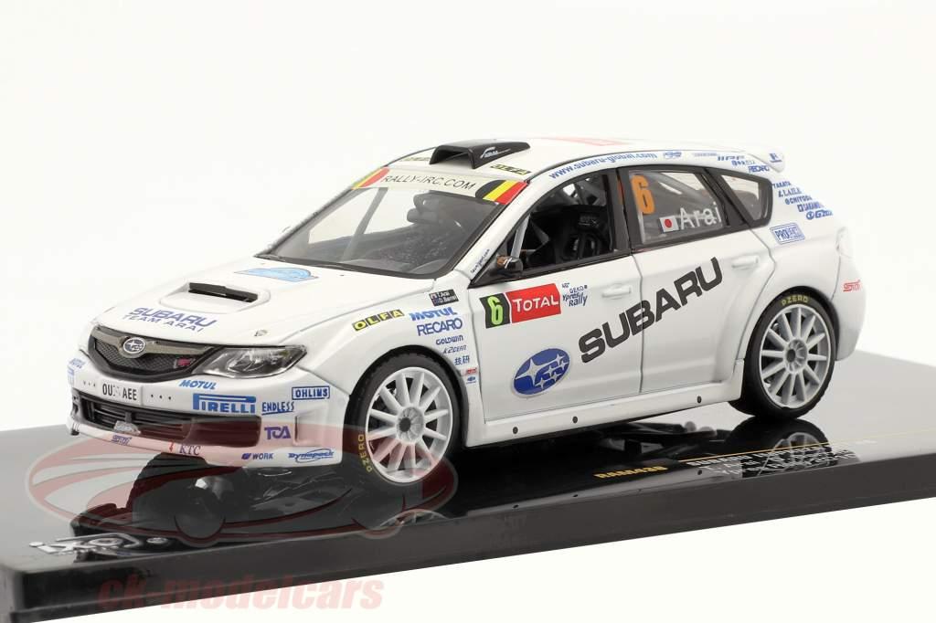Subaru Impreza STI #6 T. Arai, D. Barret Ypres Rallye 2010 1:43 Ixo