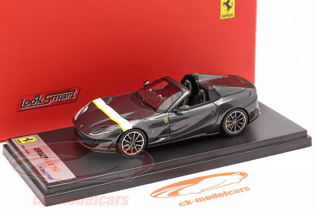 Ferrari 812 GTS Spider Ano de construção 2019 Silverstone cinza 1:43 LookSmart