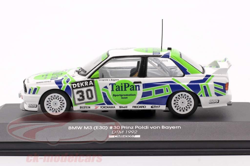 BMW M3 (E30) #30 Tai Pan DTM 1992 Prinz Poldi von Bayern 1:43 CMR