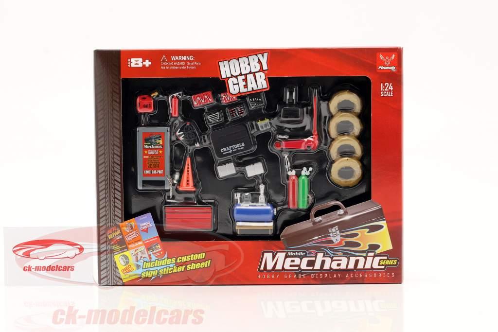 Juego de mecánico móvil 1:24 Hobbygear