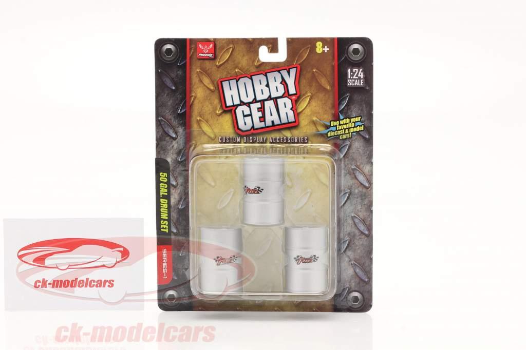 50 Galón Barriles Set (3 piezas) 1:24 Hobbygear