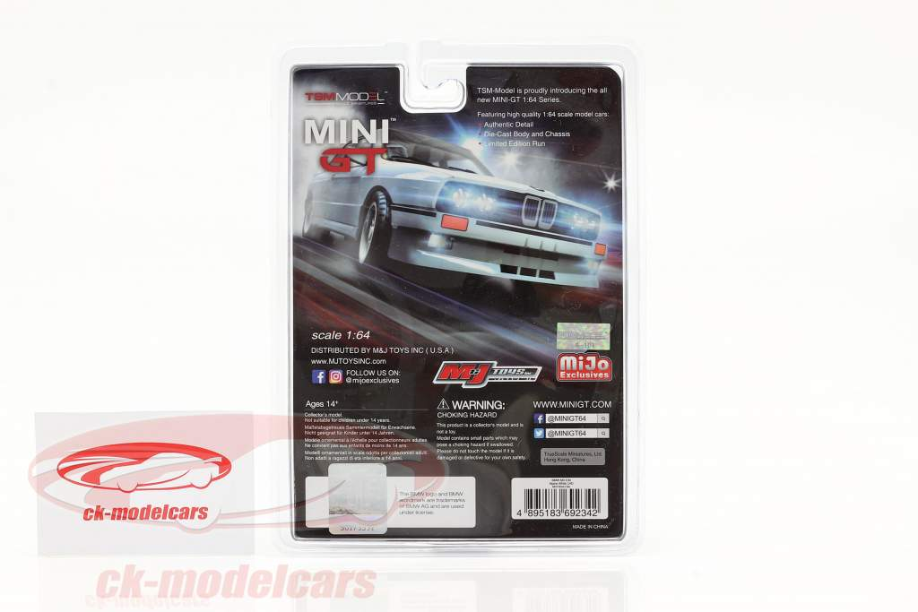 BMW M3 (E30) LHD bianco alpino nel Blister 1:64 TrueScale