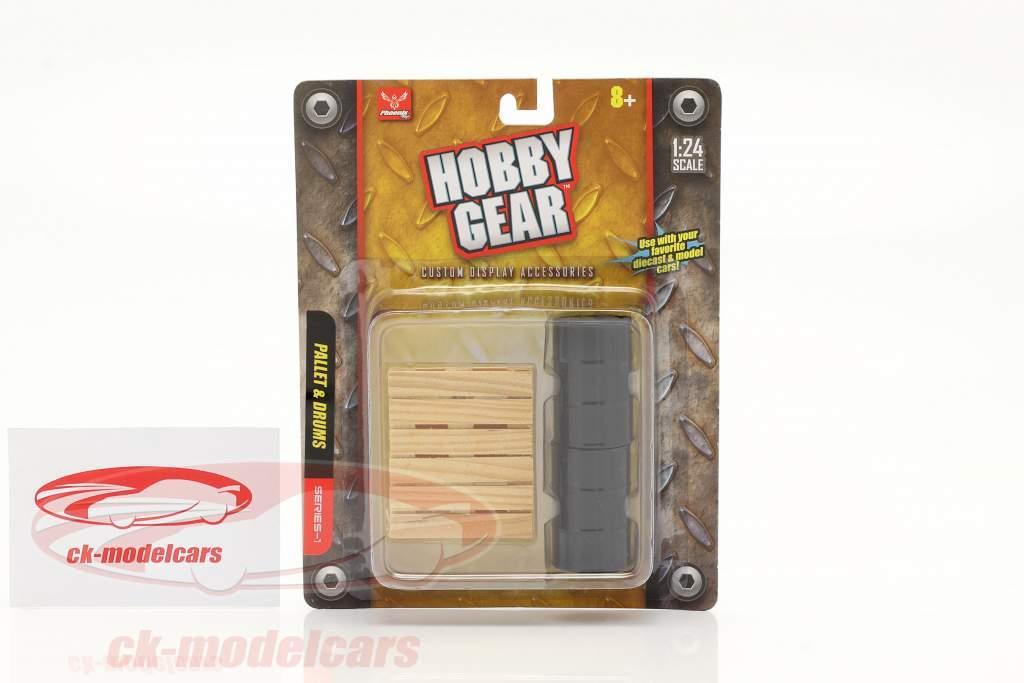 2 Barriles con paleta 1:24 Hobbygear